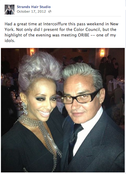 shirley gordon and oribe at Intercoiffure
